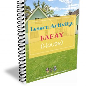 Tagalog lesson activity on bahay