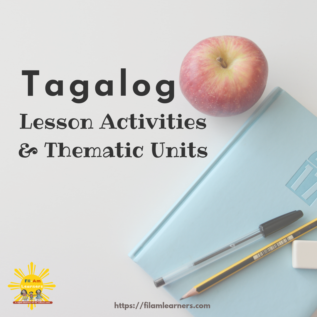 Tagalog Lesson Activities