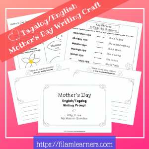 Mother's Day Tagalog Writing Craft
